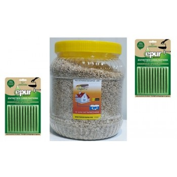 Pachet ECO CONFORT -1x Bioactivator  fosa septica ECO CONFORT, 1,5kg, 2x Betisoare bio scurgere baie si bucatarie EPUR 12*2g